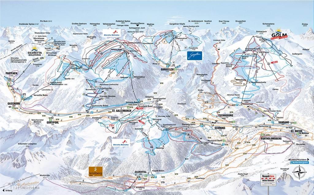 Ski gebied montafon