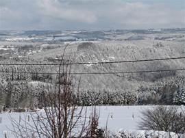 De vallei gezien vanuit de woning