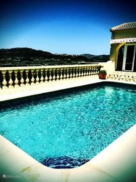 Impressie van het zwembad (door gast gemaakt)