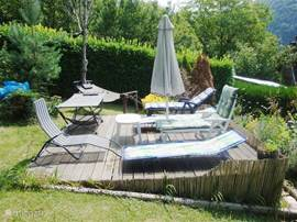4th Sun terrace to the pool with sun loungers and hammocks