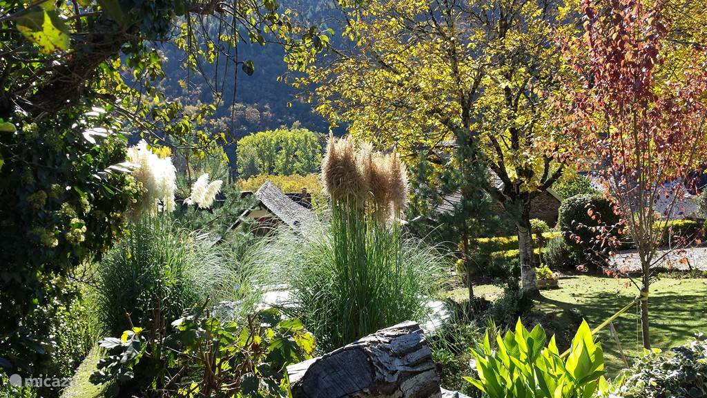 Een prachtig uitzicht over de tuin