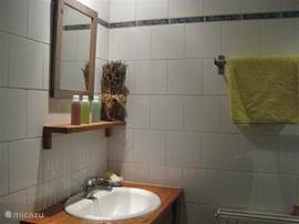 Chalet Haute Bergen, Chamonix Mont Blanc. De badkamer in de studio heeft een heerlijke inloopdouche.De studio heeft een eigen opgang.