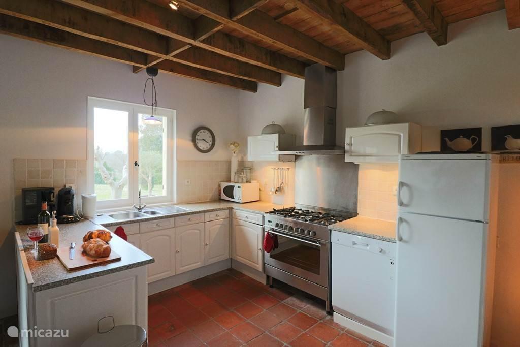 Keuken met fraai uitzicht