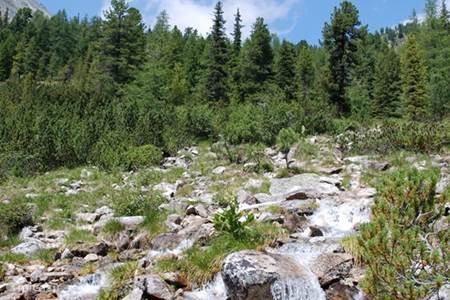 Krakaudorf, met mooie meren, bergen en waterval