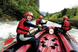 Rafting on the river Mur.
