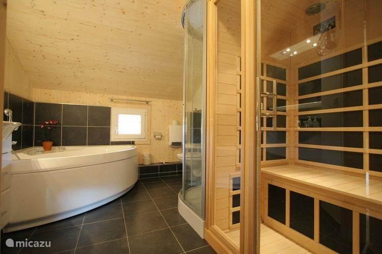 Luxus Badezimmer Mit Whirlpool, Sauna, Massagedusche Und Whirlpool.