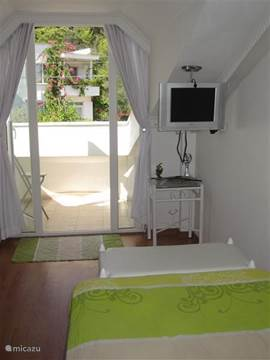 slaapkamer naar het balkon