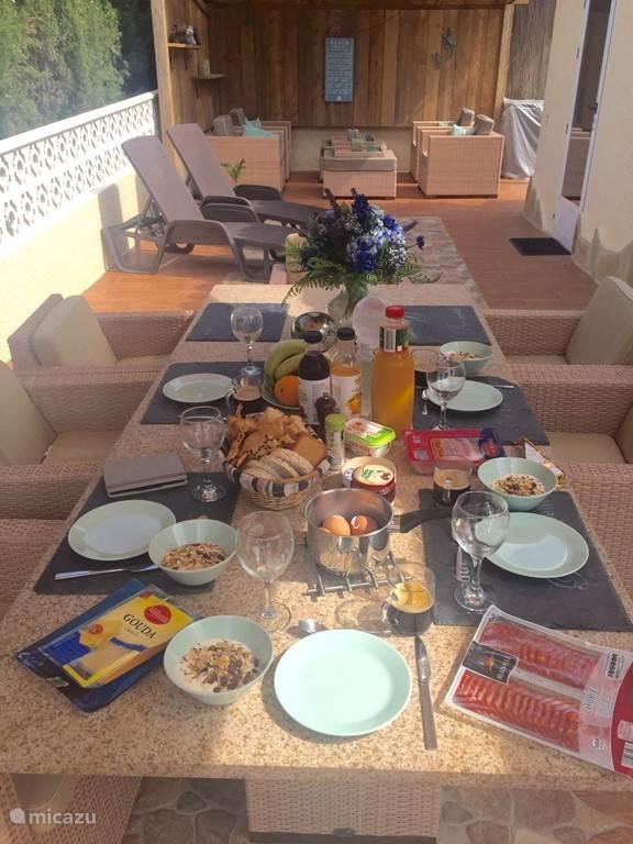 Gezellige eettafel