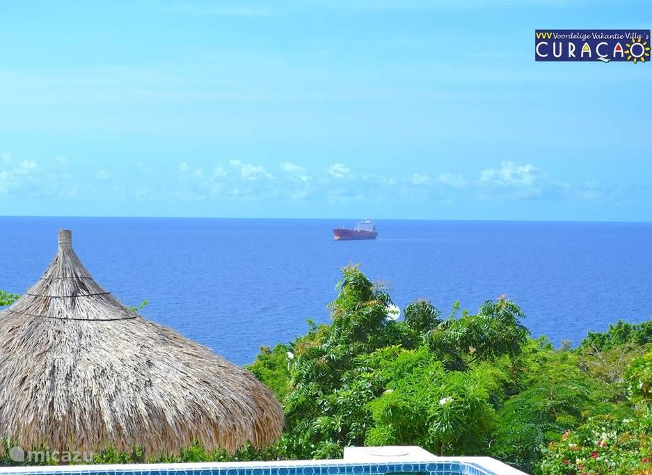 Fantastisch uitzicht. Vanaf het terras heeft u 180 graden zicht over de oceaan. Soms ziet u groepen dolfijnen passeren. Bij helder weer ziet u de contouren van Venezuela.