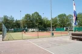 Tennisbaan op het park, gratis te gebruiken  voor onze gasten.
