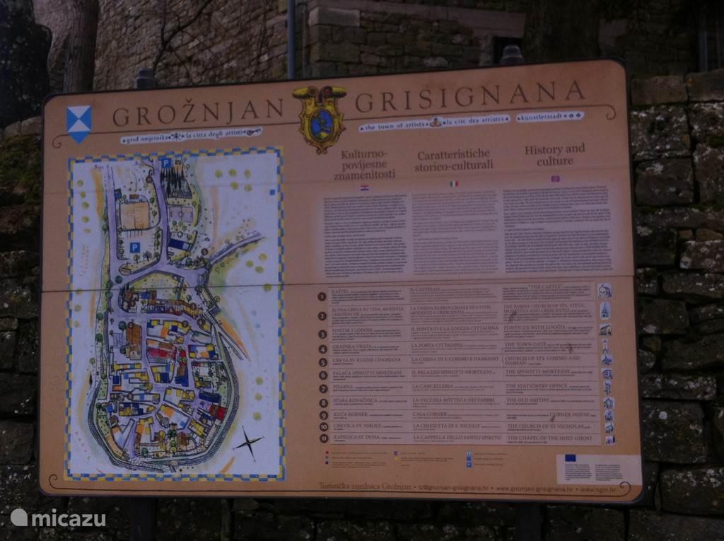 Het beroemste kunstenaars dorp van Istrie Groznjan echt een bezoekje waard.