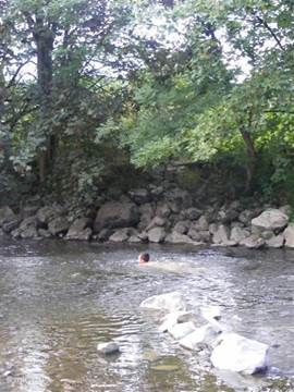 Swimming in the Ourthe