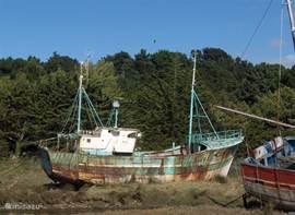 Oude Bretonse vissersschepen