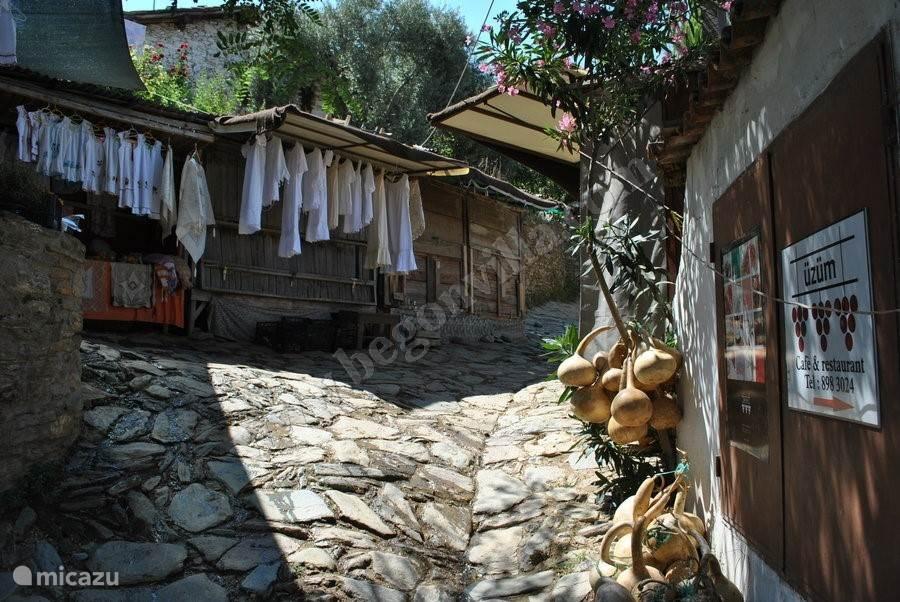 SIRINCE - heel mooi charmant dorpje uit de 15e eeuw gelegen tegen de heuvelflank! Hier vindt u verse streekproducten, de beste wijnen en kunt u genieten van het rustgevend zicht op het terras van restaurantjes met traditionele Turkse gerechten! Hier kunt u ook traditioneel ontbijten of Gözleme eten!