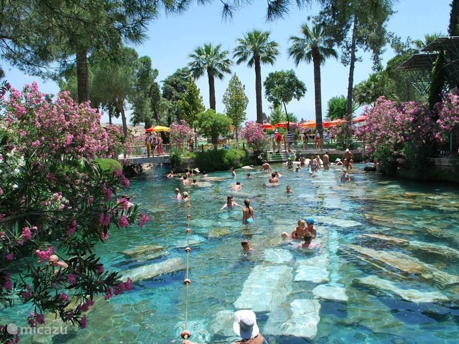 De mensheid gelooft al sinds eeuwen voor Christus in het helend bronwater van Pamukkale! Deze heilige bronnen zijn meer bekend als 'Cleopatra's Sacred Pool'.
