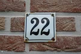 Op nummer 22 moet u zijn