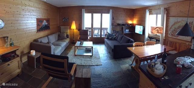 De woonkamer (met slaapbank voor 2 personen)
