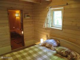 Sauna directly into the ground floor bedroom
