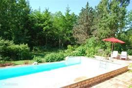 Het zwembad vanaf de andere kant (dit is nog het 'oude' zwembad).