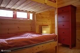 Slaapkamer twee stapelbedden
