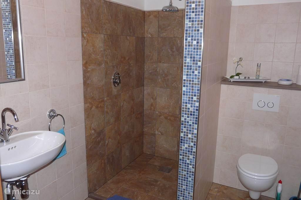 Badkamer met XXL regendouche.