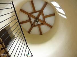 Het plafond van de toren. Heel bijzonder