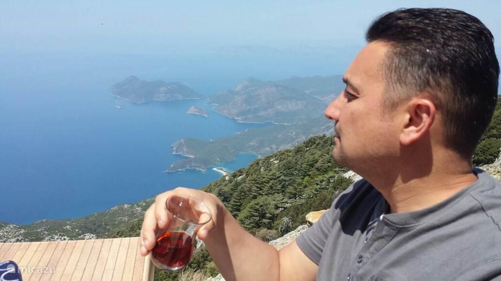 Op de berg Babadag (bij café Zirve)