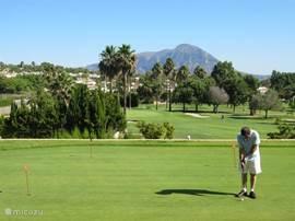 vele golfbanen in de directe omgeving