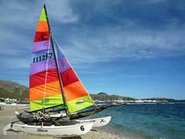 In Puerto Pollensa is er een zeil en windsurf school met veel en prima materiaal!
