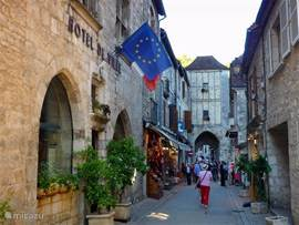 Leuk winkelstraatje in Rocamadour