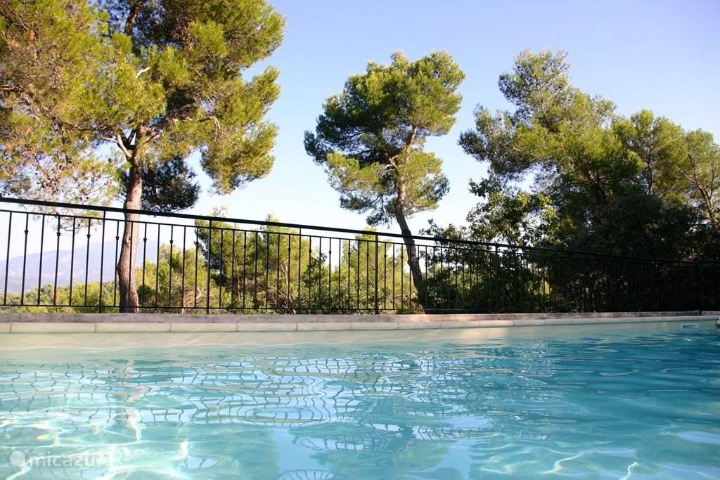 De Ventoux vanuit het zwembad