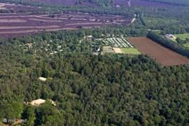 luchtfoto van het bospark