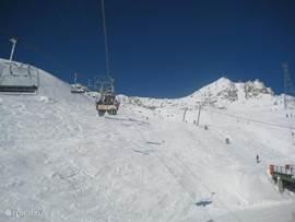 Impressie van het skigebied vanaf de Fiescheralp