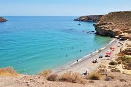 Een rustiger stukje strand van Mazarrón om heerlijk tot rust te komen.