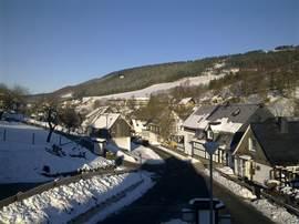 Uitzicht over Westfeld vanuit ons huis.
