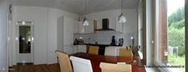 De gezellige woonkeuken.