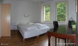 One of the spacious 2 double bedrooms.