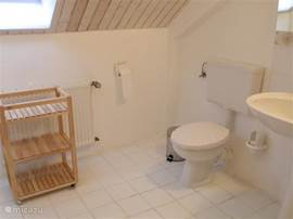 This bathroom is accessed through the main bedroom.