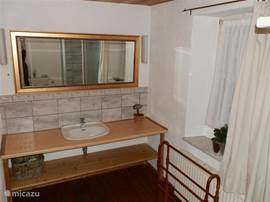 The bathroom on the ground floor with sink ...