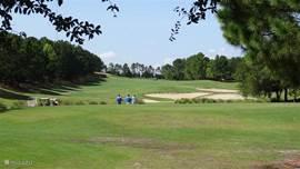 Uitzicht op de 13de golfcource