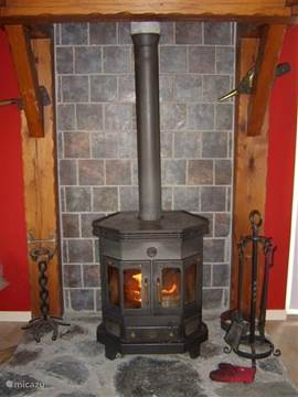 Barbas cozy wood stove with chimney