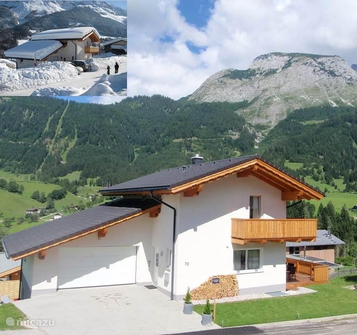 luxe vrijstaand vakantiehuis voor zomer en winter