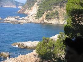 Een van de vele strandjes in de omgeving