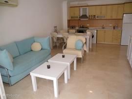 huiskamer met keuken