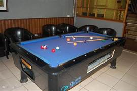 Separate billiard room.