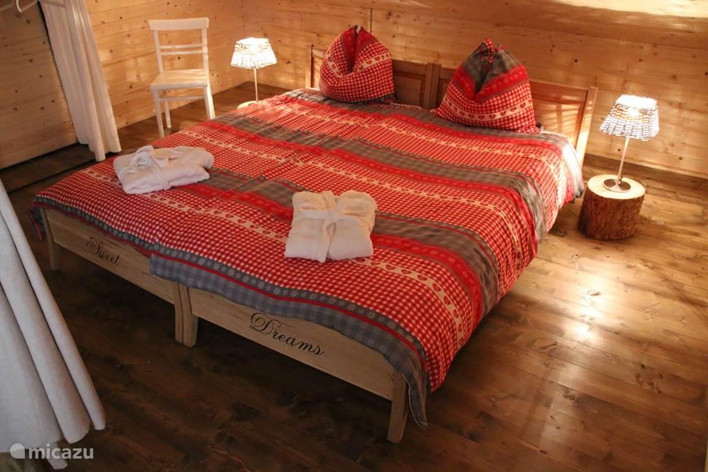 Romantische slaapkamer in de loft.
