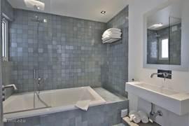 1 vd 2 badkamers, met ligbad & douche.
