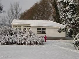 prachtige locatie in de sneeuw