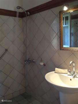 De badkamer op de begane grond.