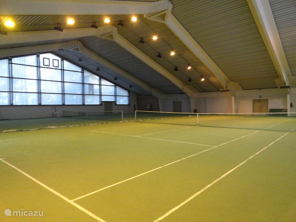 Free tennis on one of the indoor or outdoor tennis courts